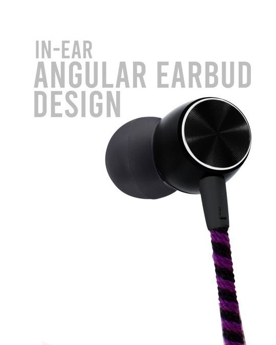 Shop CrossLoop Pro Series Earphone with Mic & Volume Control in Blue, Black and Purple-Full