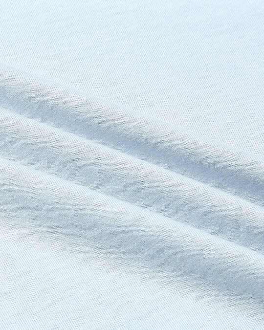 Shop Crystal Blue Melange Contrast Shoulder Polo