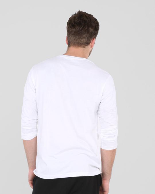Shop Cut The Crap Full Sleeve T-Shirt White-Back