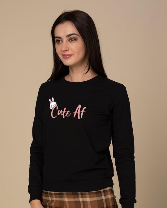 Shop Cute Af Sweatshirt-Back
