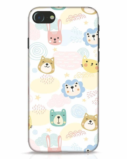 Shop Cute Animals iPhone 7 Mobile Cover-Front