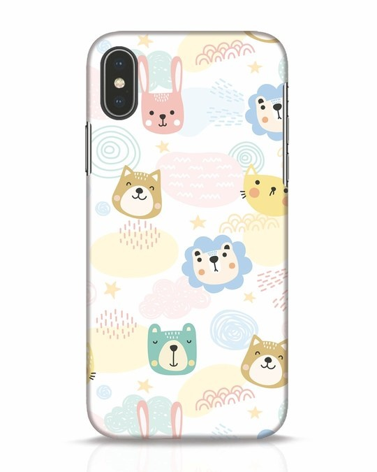 Shop Cute Animals iPhone X Mobile Cover-Front
