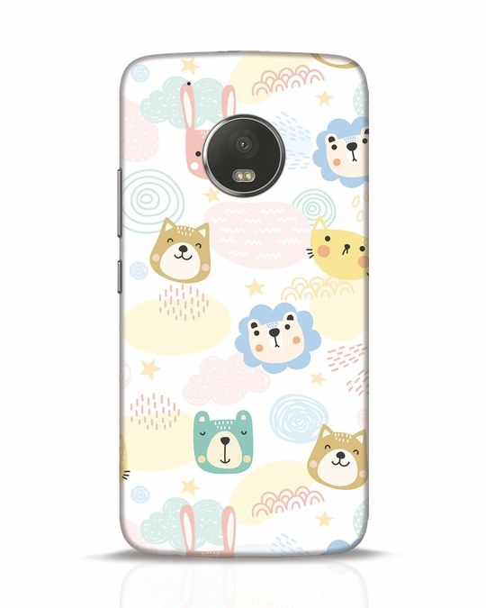 Shop Cute Animals Moto G5 Plus Mobile Cover-Front