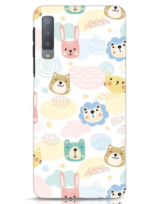 Shop Cute Animals Samsung Galaxy A7 Mobile Cover-Front