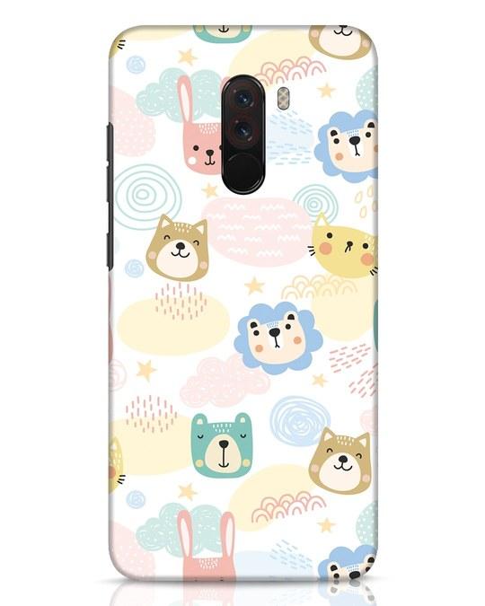 Shop Cute Animals Xiaomi POCO F1 Mobile Cover-Front