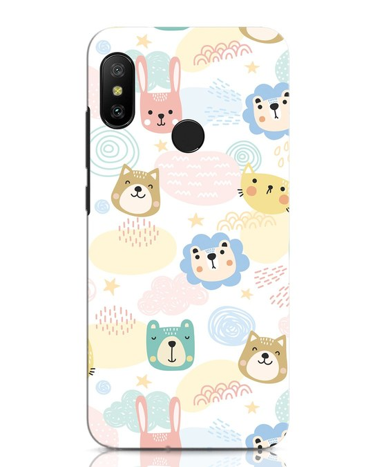 Shop Cute Animals Xiaomi Redmi Note 6 Pro Mobile Cover-Front
