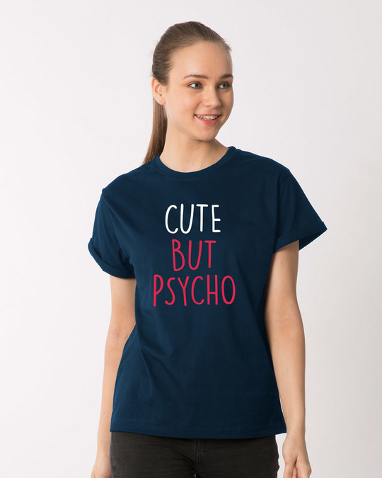 Shop Cute But Psycho Boyfriend T-Shirt-Front