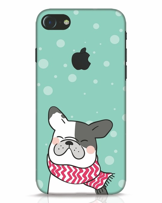 Shop Cute Doggy iPhone 7 Logo Cut Mobile Cover-Front