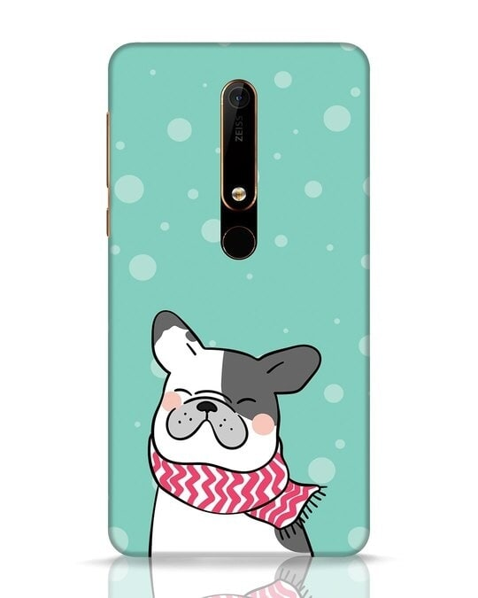 Shop Cute Doggy Nokia 6.1 Mobile Cover-Front
