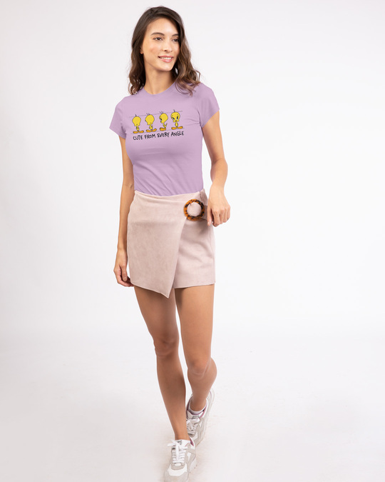 Shop Cute From Every Angle Half Sleeve T-Shirt (TWL)-Design