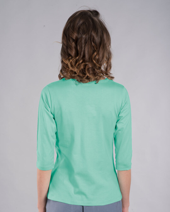 Shop Cute From Every Angle Round Neck 3/4th Sleeve T-Shirt (TWL)-Back