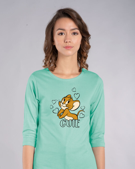 Shop Cute Jerry Round Neck 3/4th Sleeve T-Shirt (TJL)-Front