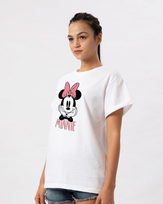 Shop Cute Minnie Boyfriend T-Shirt (DL)-Back