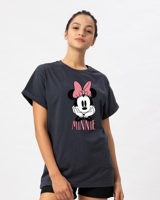 Shop Cute Minnie Boyfriend T-Shirt (DL)-Back