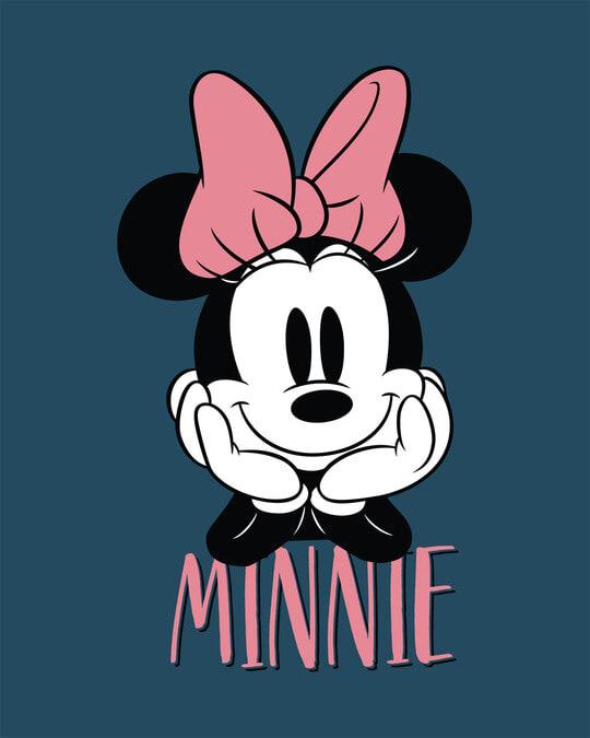 Shop Cute Minnie Round Neck 3/4th Sleeve T-Shirt (DL)