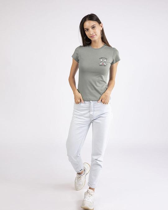Shop Cute Pawsitive Half Sleeve T-shirt-Full