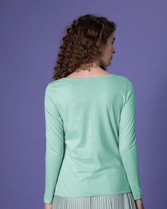 Shop Cute Pawsitive Scoop Neck Full Sleeve T-Shirt-Design