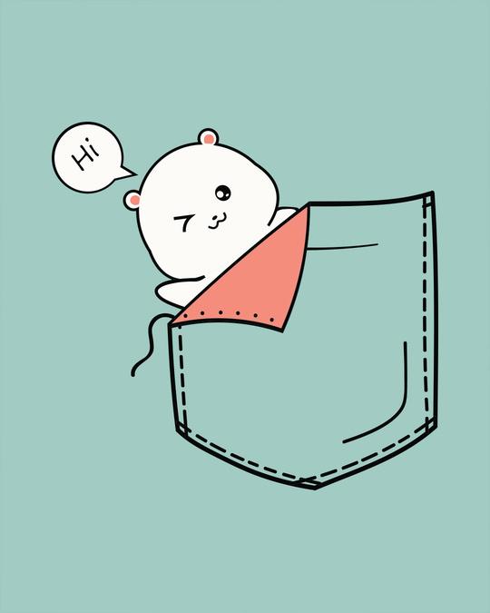 Shop Cute Pocket Hi Boyfriend T-Shirt