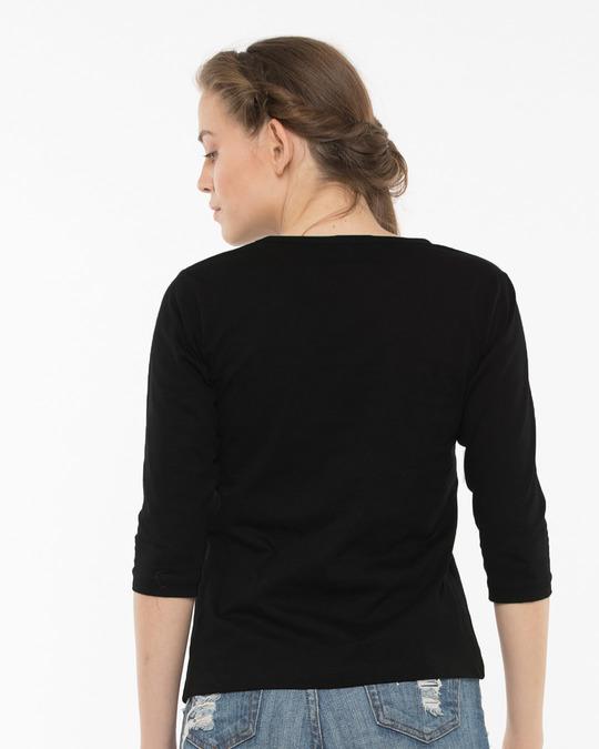 Shop Cute Unicorn Round Neck 3/4th Sleeve T-Shirt-Full