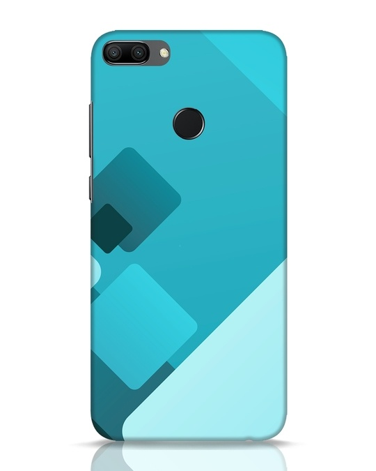 Shop Cyan Blocks Huawei Honor 9N Mobile Cover-Front