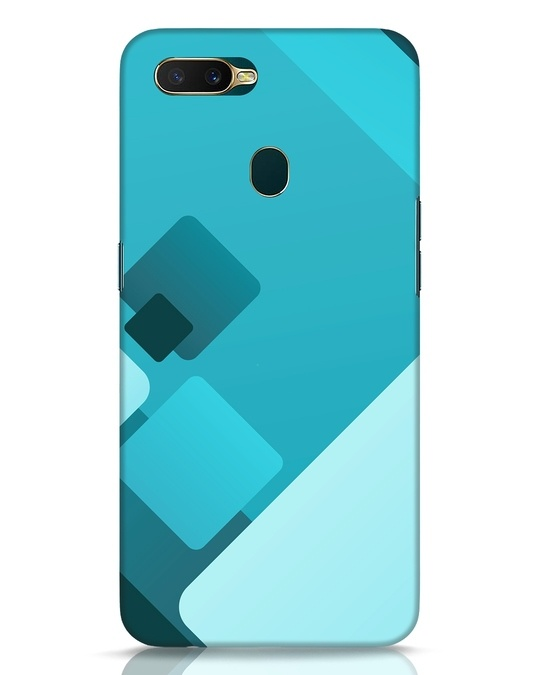 Shop Cyan Blocks Oppo A7 Mobile Cover-Front