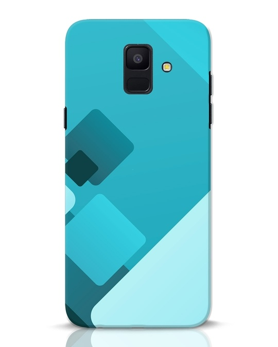 Shop Cyan Blocks Samsung Galaxy A6 2018 Mobile Cover-Front