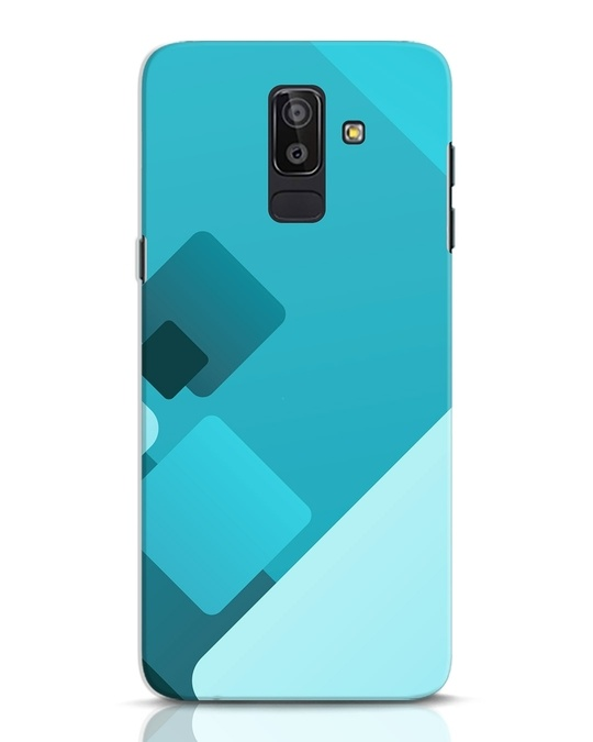 Shop Cyan Blocks Samsung Galaxy J8 Mobile Cover-Front