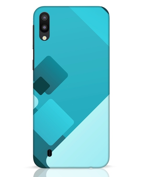 Shop Cyan Blocks Samsung Galaxy M10 Mobile Cover-Front