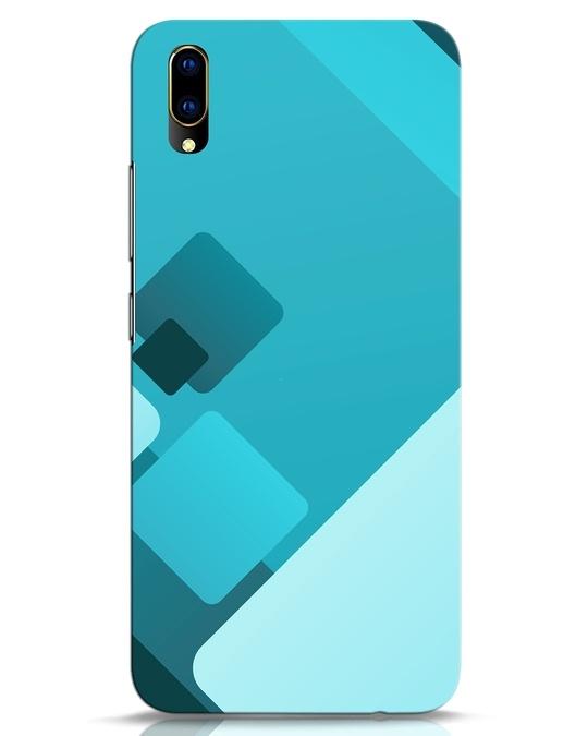 Shop Cyan Blocks Vivo V11 Pro Mobile Cover-Front