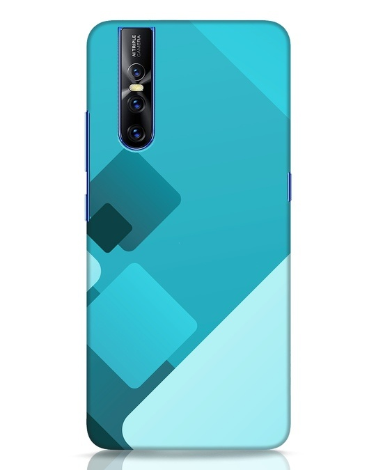 Shop Cyan Blocks Vivo V15 Pro Mobile Cover-Front
