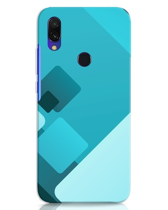 Shop Cyan Blocks Xiaomi Redmi 7 Mobile Cover-Front
