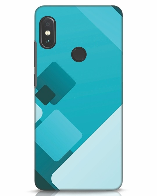 Shop Cyan Blocks Xiaomi Redmi Note 5 Pro Mobile Cover-Front