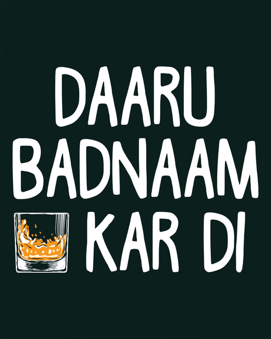 Shop Daaru Badnaam Full Sleeve T-Shirt