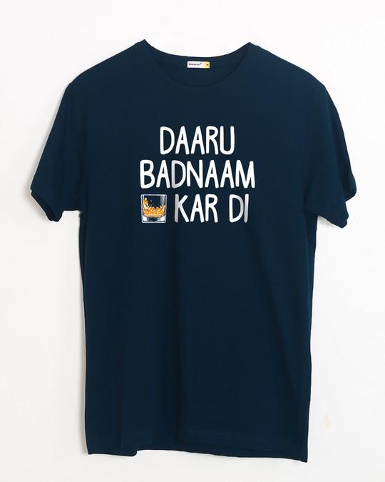 Shop Daaru Badnaam Half Sleeve T-Shirt-Front