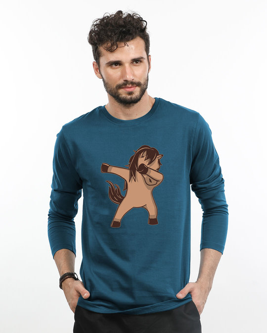 Shop Dab Horse Full Sleeve T-Shirt-Front