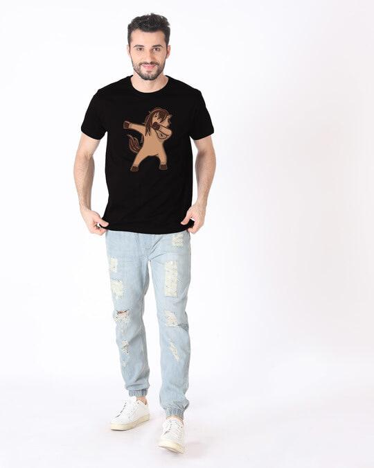 Shop Dab Horse Half Sleeve T-Shirt