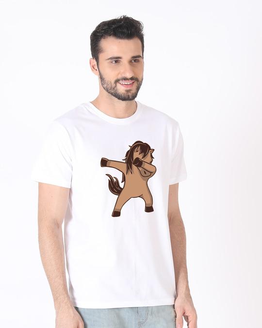 Shop Dab Horse Half Sleeve T-Shirt-Design