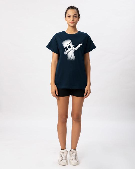 Shop Dab Marshmello Boyfriend T-Shirt