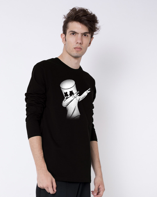 Shop Dab Marshmello Full Sleeve T-Shirt-Back