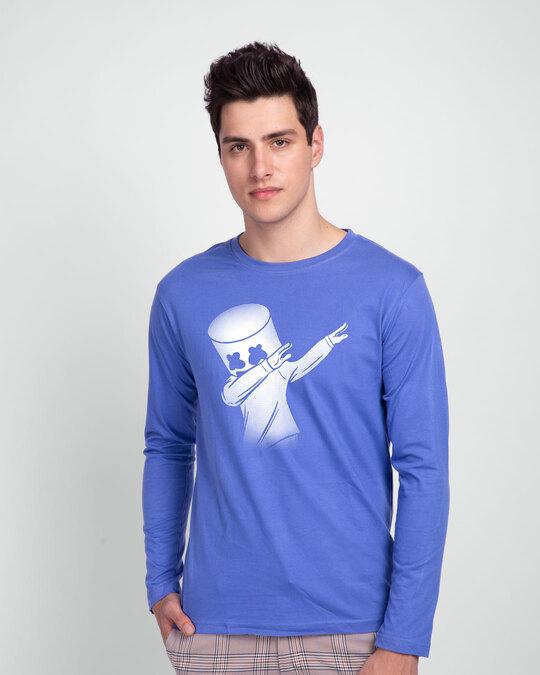 Shop Dab Marshmello Full Sleeve T-Shirt-Front