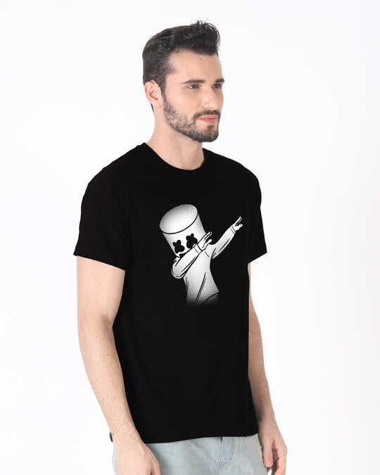 Shop Dab Marshmello Half Sleeve T-Shirt-Design