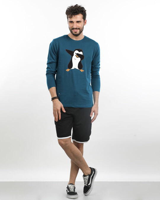 Shop Dab Penguin Full Sleeve T-Shirt