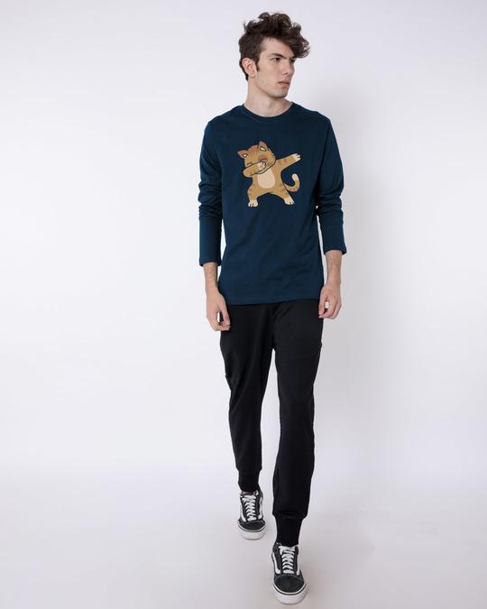 Shop Dabbing Cat Full Sleeve T-Shirt