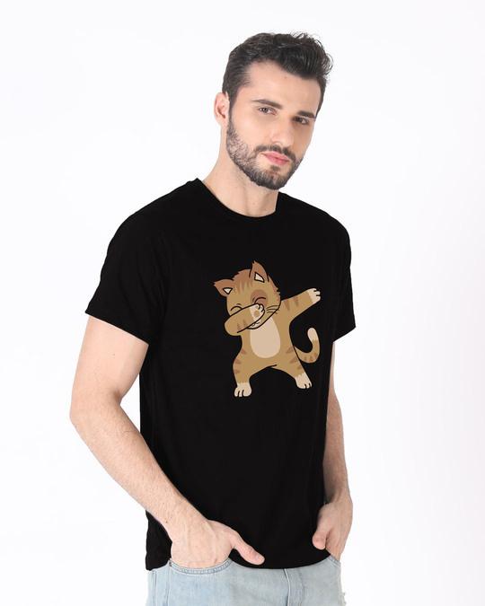 Shop Dabbing Cat Half Sleeve T-Shirt-Design