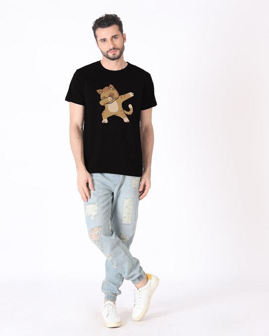 Shop Dabbing Cat Half Sleeve T-Shirt