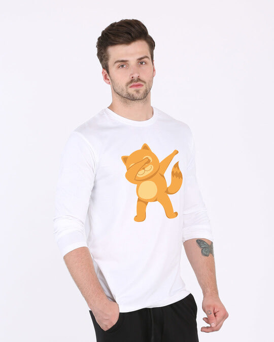 Shop Dabbing Catty Full Sleeve T-Shirt-Back
