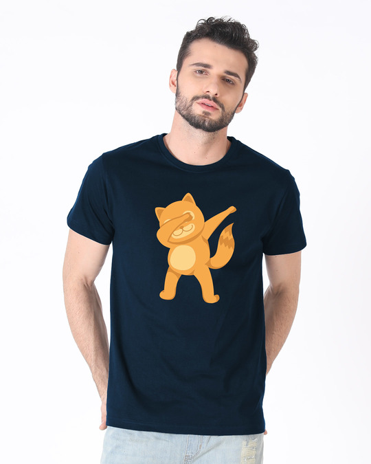 Shop Dabbing Catty Half Sleeve T-Shirt-Back