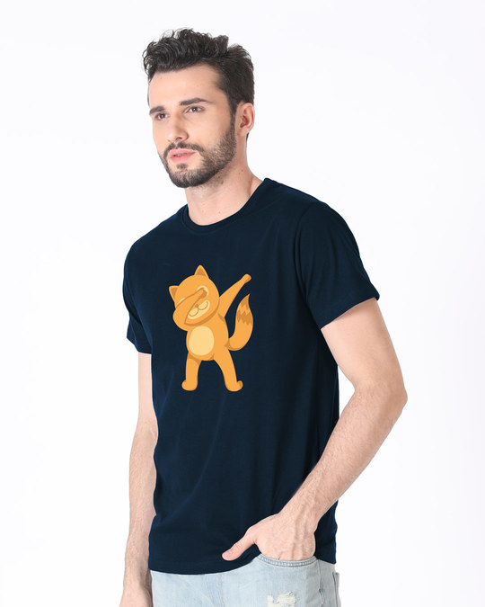 Shop Dabbing Catty Half Sleeve T-Shirt-Full