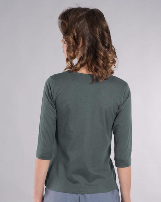 Shop Dabbing Panda Bow Round Neck 3/4th Sleeve T-Shirt-Back