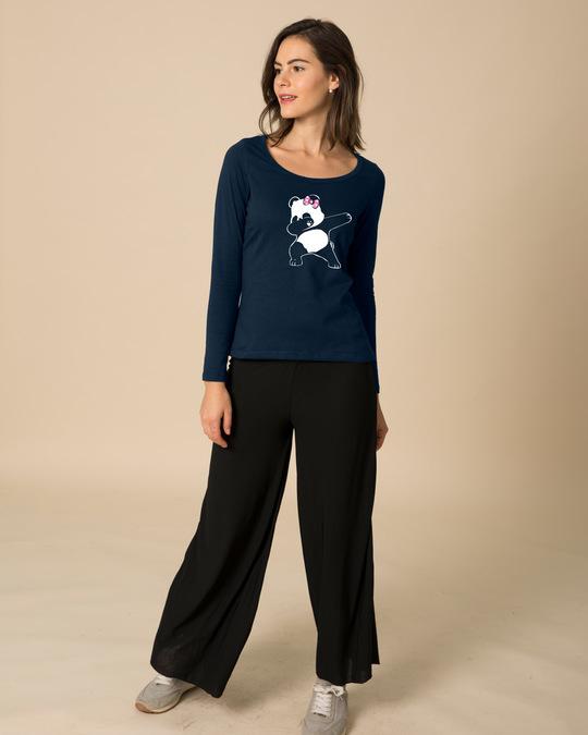 Shop Dabbing Panda Bow Scoop Neck Full Sleeve T-Shirt-Design